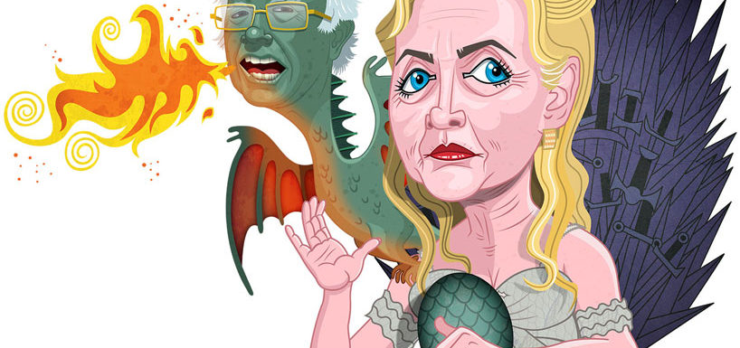 Hillary and Bernie - Game of Thrones by Joe Rocco