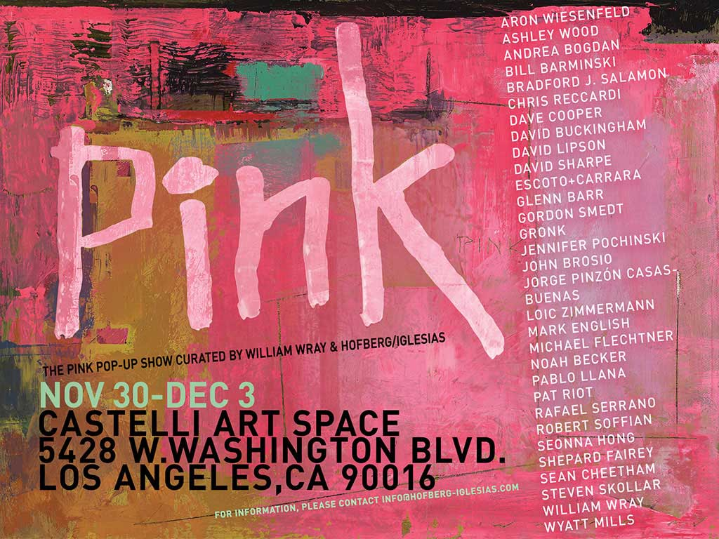 PINK Show announcement by William Wray