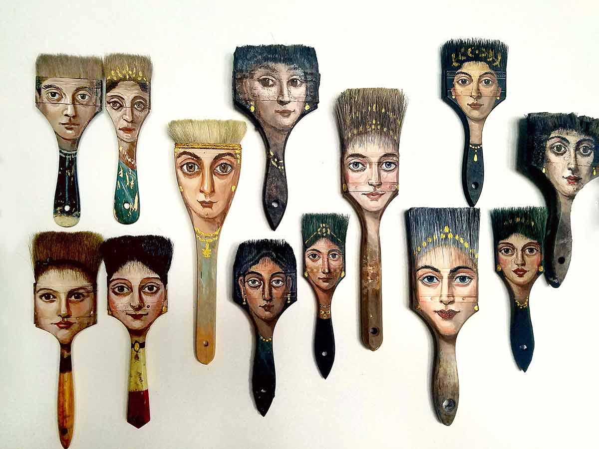 Brush collection, studio by Alexandra Dillon