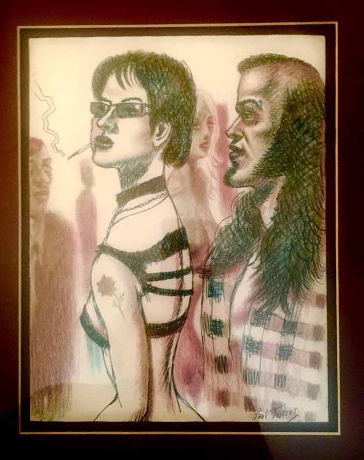'black shirt' by Paul Torres owned by Chris Bonno