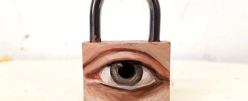Padlock eye by Alexandra Dillon